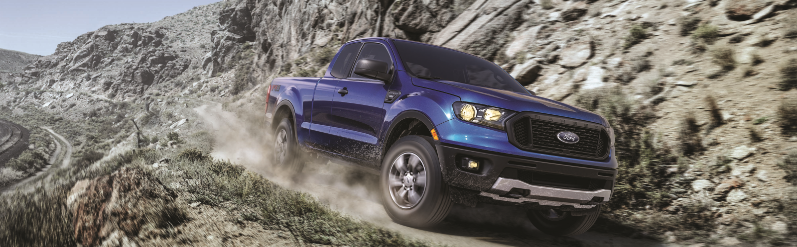 2019 Ford Ranger driving down mountain