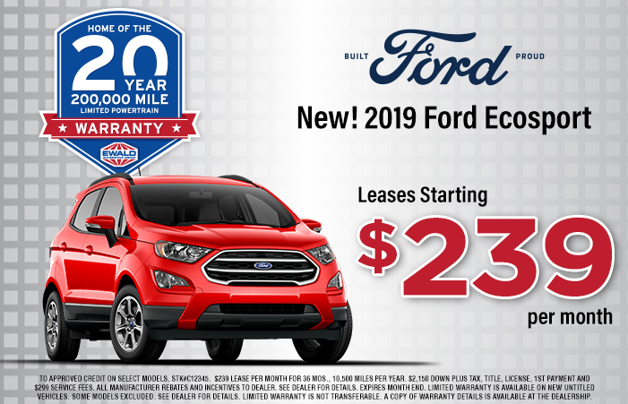 Current Lease Offers >> New Ford Lease Offers Specials Ewald S Venus Ford