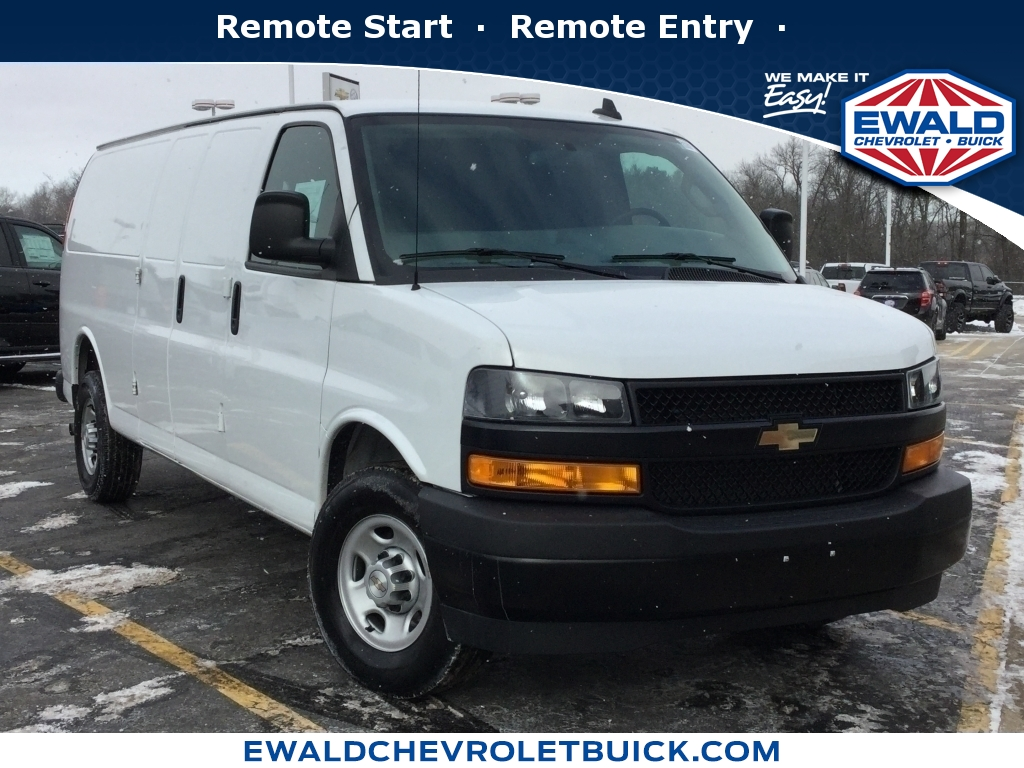 Used White 2010 Chevrolet Express Cargo Van stk# C12362A