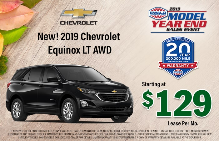 New 2019 Chevrolet Equinox Lease Offer | Ewald Chevrolet & Buick