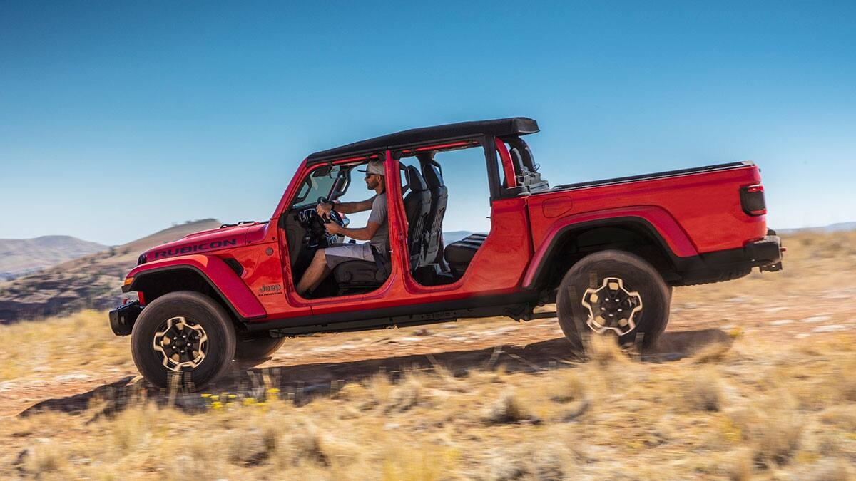 2020 Jeep Gladiator with doors off