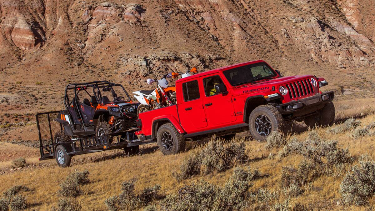 2020 Jeep Gladiator Towing ATV