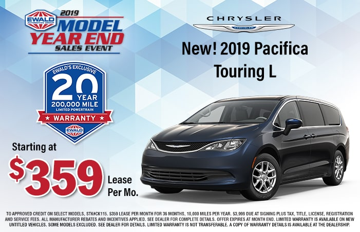 Chrysler Pacifica Lease >> New 2019 Chrysler Pacifica Touring L Offer Ewald Cjdr