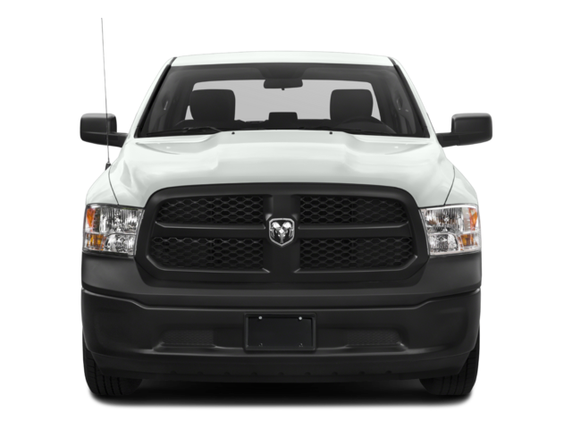 White 2018 Ram 1500 grill