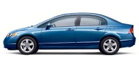 Used, 2008 Honda Civic Sdn, Blue, KP1936-1