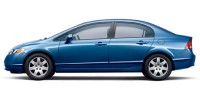 Used, 2007 Honda Civic Sdn LX, Blue, H56244A-1