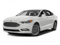 Used, 2017 Ford Fusion Titanium, White, 18805-1