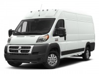 "New, 2018 Ram ProMaster Cargo Van 3500 High Roof 159"" WB EXT, White, DJ129-1"