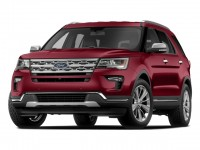 New, 2018 Ford Explorer XLT 4WD, Red, F18440-1
