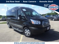 New, 2019 Ford Transit Passenger Wagon XLT, Black, SCA20972-1