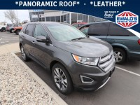 Used, 2017 Ford Edge Titanium, Gray, P17234-1