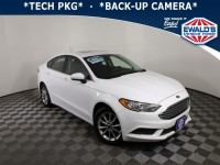 Used, 2017 Ford Fusion SE, White, P17152A-1