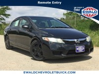 Used, 2010 Honda Civic Sedan LX, Black, 19C4A-1