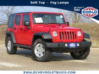 Used, 2011 Jeep Wrangler Unlimited Sport, Red, 20C82A-1