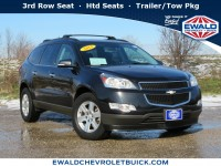 Used, 2012 Chevrolet Traverse LT w/1LT, Black, 20C155A-1