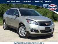 Used, 2014 Chevrolet Traverse LT, Beige, 19C819A-1