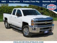 Used, 2016 Chevrolet Silverado 2500HD LT, White, 19C987A-1