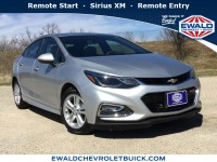 Used, 2017 Chevrolet Cruze LT, Silver, 19C431A-1