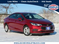 Used, 2017 Chevrolet Cruze LT, Red, GP4569-1