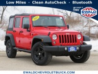Used, 2017 Jeep Wrangler Unlimited Sport, Red, GP4916-1
