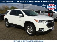 Used, 2018 Chevrolet Traverse LT Cloth, White, GP4135-1