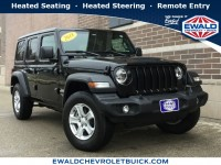 Used, 2018 Jeep Wrangler Unlimited Sport S, Black, 18C890B-1