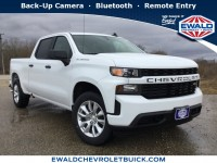 New, 2019 Chevrolet Silverado 1500 Custom, White, 19C556-1