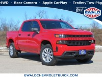 New, 2020 Chevrolet Silverado 1500 Custom, Red, 20C420-1
