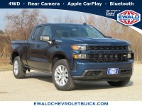 New, 2020 Chevrolet Silverado 1500 Custom, Blue, 20C680-1