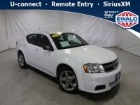Used, 2014 Dodge Avenger SE, White, JM336A-1
