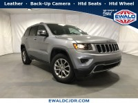 Certified, 2015 Jeep Grand Cherokee Limited, Silver, DP53892-1