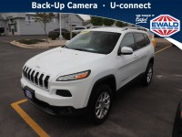 Certified, 2018 Jeep Cherokee Latitude Plus, White, JM374A-1