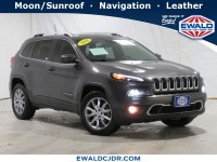 Certified, 2018 Jeep Cherokee Limited, Gray, JM244A-1