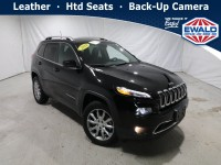 Certified, 2018 Jeep Cherokee Limited, Black, JM327A-1