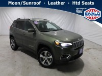 New, 2021 Jeep Cherokee Limited, Green, JM235-1