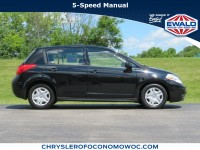 Used, 2012 Nissan Versa 5-door HB Manual 1.8 S, Black, CN1876B-1
