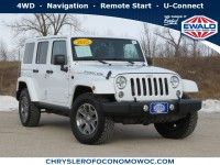 Used, 2015 Jeep Wrangler Unlimited Rubicon, White, C20J143A-1