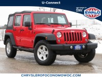 Used, 2015 Jeep Wrangler Unlimited Sport, Red, CN1761A-1