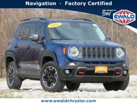 Certified, 2016 Jeep Renegade Trailhawk 4x4, Blue, CN2060A-1