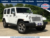 Certified, 2016 Jeep Wrangler Unlimited Sahara, White, CN1732-1