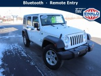 Used, 2016 Jeep Wrangler Unlimited Sport S 4X4, White, CN2057-1