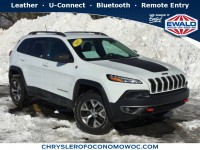 Certified, 2017 Jeep Cherokee Trailhawk L Plus, White, CN1638-1