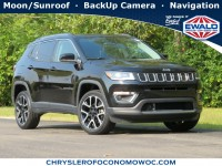 Certified, 2017 Jeep Compass Limited, Black, CN1963-1