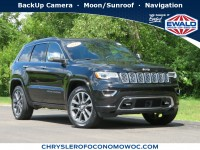 Certified, 2017 Jeep Grand Cherokee Overland, Black, CN1915-1