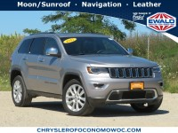 Certified, 2017 Jeep Grand Cherokee Limited, Silver, CN1943-1
