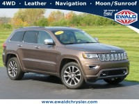 Certified, 2017 Jeep Grand Cherokee Overland, Brown, CN1975-1