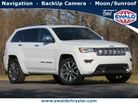 Certified, 2017 Jeep Grand Cherokee Overland, White, CN1996-1