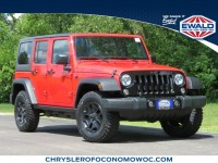 Certified, 2017 Jeep Wrangler Unlimited Willys Wheeler, Red, CN1913-1