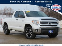 Used, 2017 Toyota Tundra 4WD Toyota Tundra SR Double Cab 4x4, White, D21D5A-1
