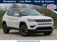 Certified, 2018 Jeep Compass Limited 4X4, White, CN2112-1